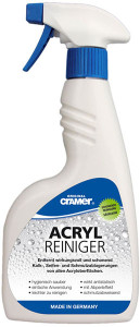 Acryloberflächen reinigen und pflegen